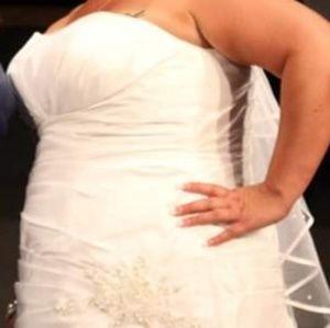 David's Bridal Dresses - Plus size David's Bridal Sweatheart Wedding Dress